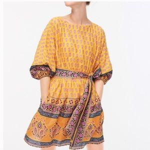 J Crew dolman sleeve mini dress sunny block print